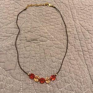 SWAROVSKI RARE Peach and Pink Crystal Necklace